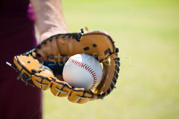 Imagem beisebol bola luva jogar Foto stock © wavebreak_media