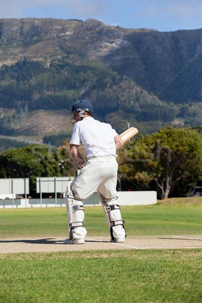 Jogar críquete campo homem Foto stock © wavebreak_media