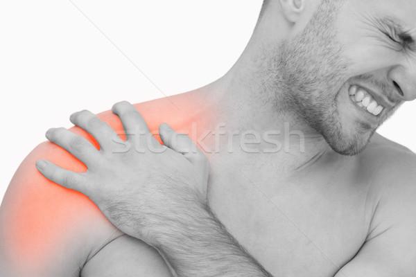 Composição digital dor no ombro homem branco equipe executivo Foto stock © wavebreak_media