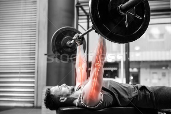 вид сбоку Выделенный спортсмен спортсмена спортзал Сток-фото © wavebreak_media