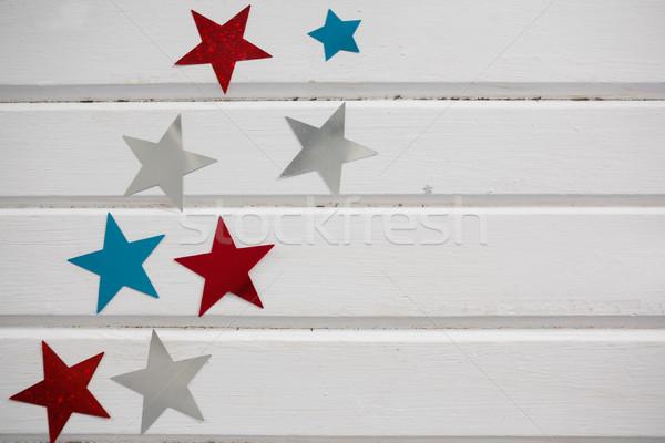 Star vorm decoratie houten tafel achtergrond Stockfoto © wavebreak_media