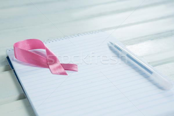 Roze borstkanker bewustzijn lint spiraal Stockfoto © wavebreak_media