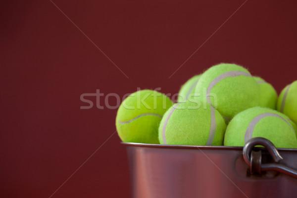 Tl Geel tennis zilver Stockfoto © wavebreak_media