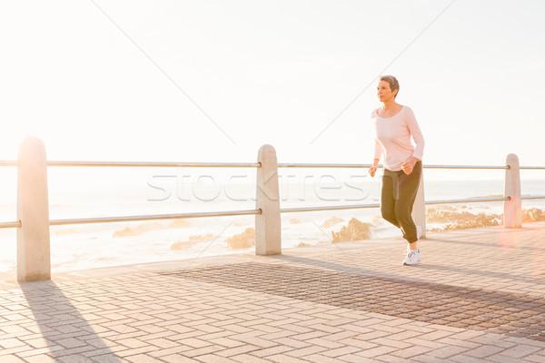 Mulher corrida passeio público luz Foto stock © wavebreak_media