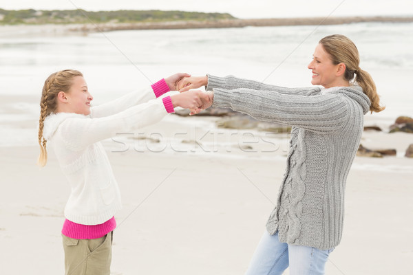 Mother and daughter playing together Stock photo © wavebreak_media