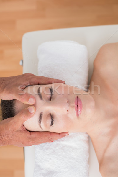 Stock photo: Woman receiving head massage