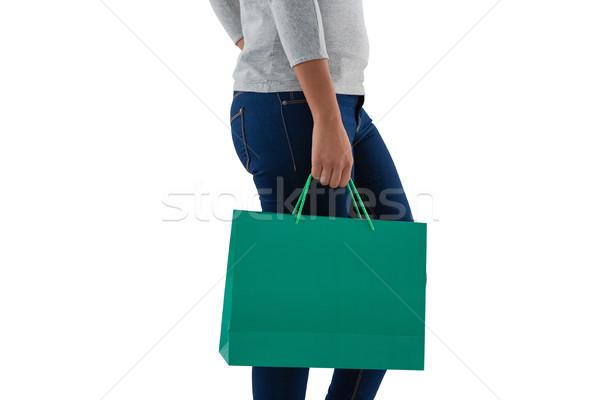 女性 緑 ショッピングバッグ 若い女性 ストックフォト © wavebreak_media