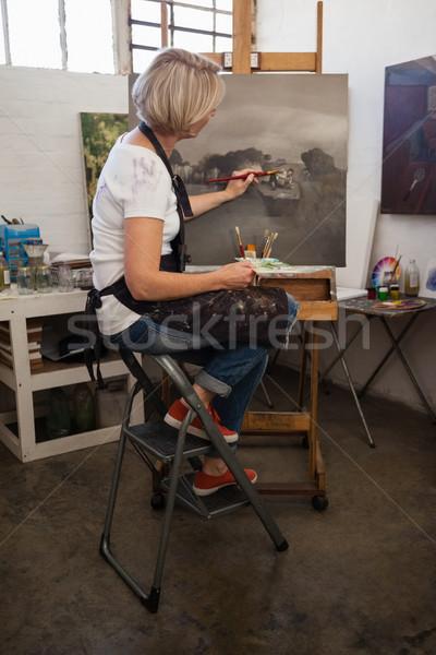 женщину Живопись холст рисунок класс внимательный Сток-фото © wavebreak_media
