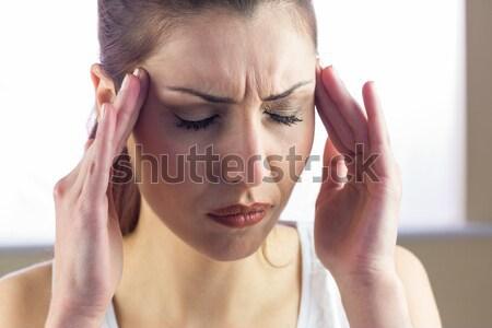 женщину головная боль красоту макияж больным Сток-фото © wavebreak_media