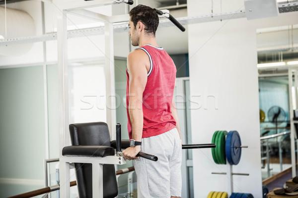 筋肉の 男 プル アップ ジム フィットネス ストックフォト © wavebreak_media