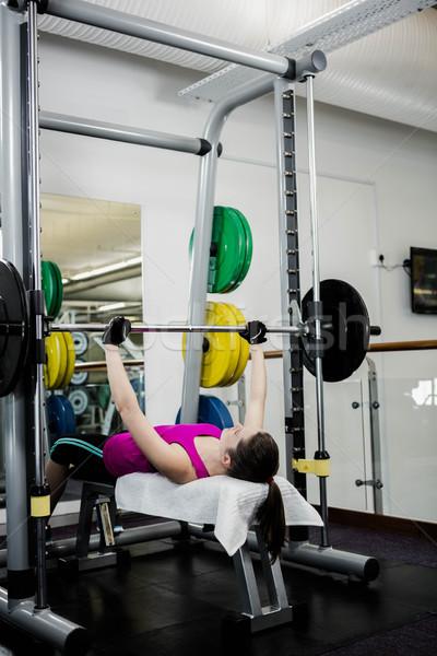 Uygun kadın halter bank basın Stok fotoğraf © wavebreak_media