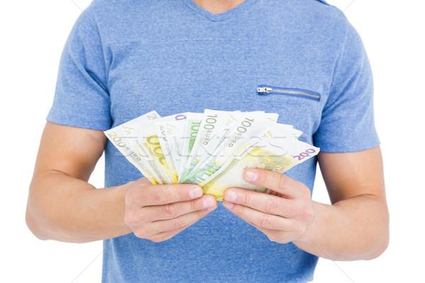 若い男 通貨 ノート クローズアップ 白 お金 ストックフォト © wavebreak_media