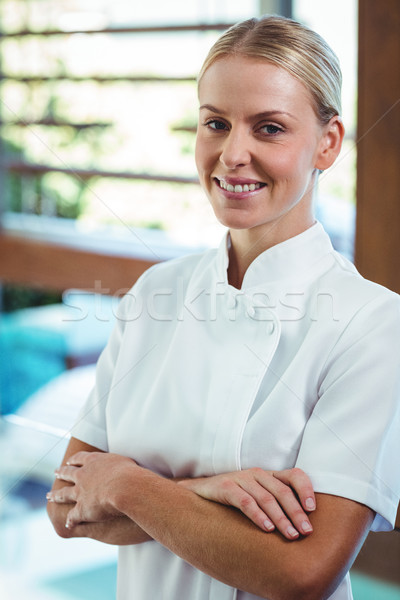 Porträt lächelnd Masseurin spa Frau Hotel Stock foto © wavebreak_media
