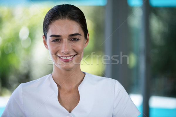 портрет женщины массажист Постоянный Spa женщину Сток-фото © wavebreak_media
