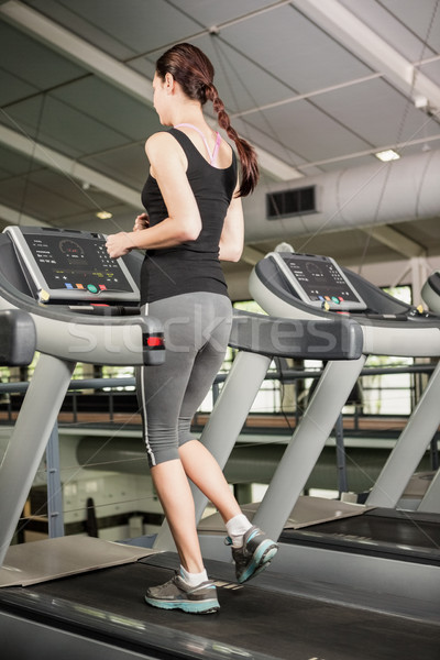женщину бег бегущая дорожка спортзал тело здоровья Сток-фото © wavebreak_media