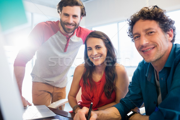 Colleagues using technology Stock photo © wavebreak_media