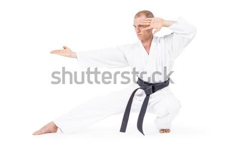 Myśliwiec karate postawa biały człowiek Zdjęcia stock © wavebreak_media