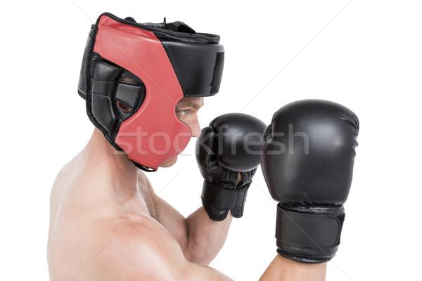 Boxoló előad box hozzáállás fehér férfi Stock fotó © wavebreak_media