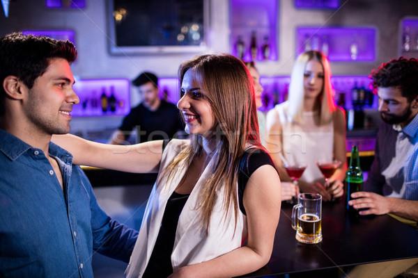 Glimlachend vrienden dansen dansvloer bar vrouw Stockfoto © wavebreak_media