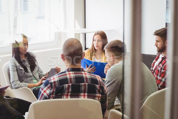 Creative деловые люди конференц-зал служба человека ноутбука Сток-фото © wavebreak_media