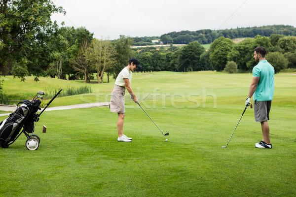 男性 インストラクター 女性 学習 ゴルフ ゴルフコース ストックフォト © wavebreak_media