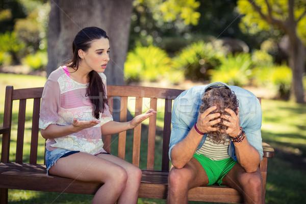 Couple arguing in park Stock photo © wavebreak_media