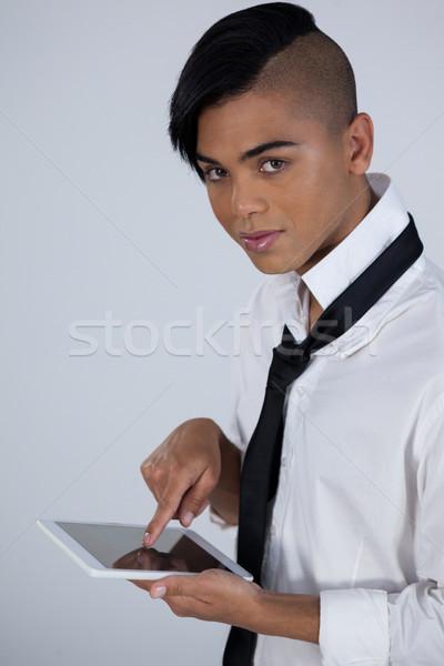 High angle portrait of tansgender woman using digital tablet Stock photo © wavebreak_media