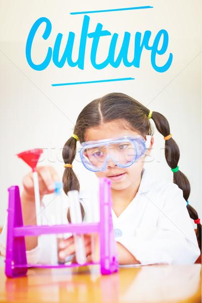 Kultúra aranyos felfelé tudós osztályterem boldog Stock fotó © wavebreak_media