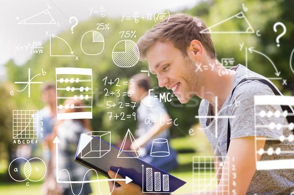 összetett kép matematika nő férfi boldog Stock fotó © wavebreak_media