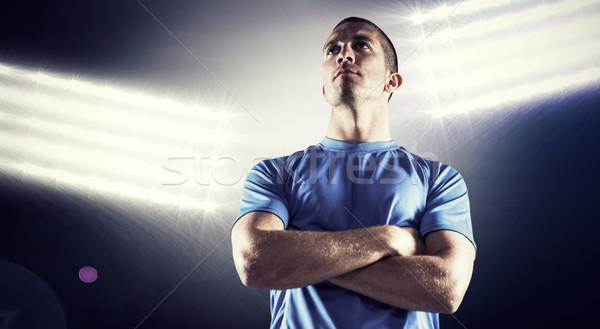 Görüntü ciddi rugby oyuncu Stok fotoğraf © wavebreak_media