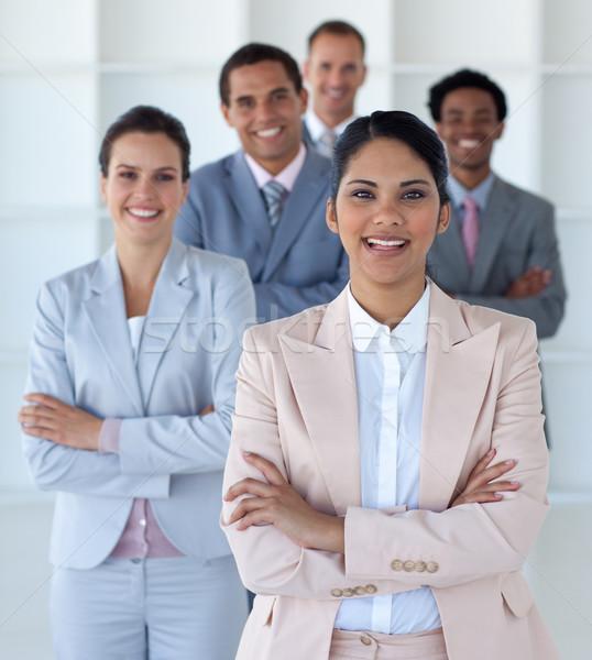 улыбаясь деловая женщина ведущий команда служба бизнеса Сток-фото © wavebreak_media