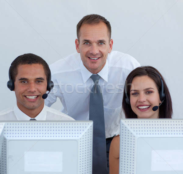 Manager and business team in a call canter  Stock photo © wavebreak_media