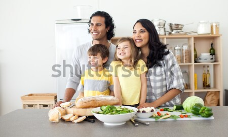 Animated family preparing lunch together Stock photo © wavebreak_media