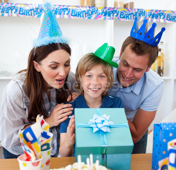 Loving parents celebrating their son's birthday Stock photo © wavebreak_media