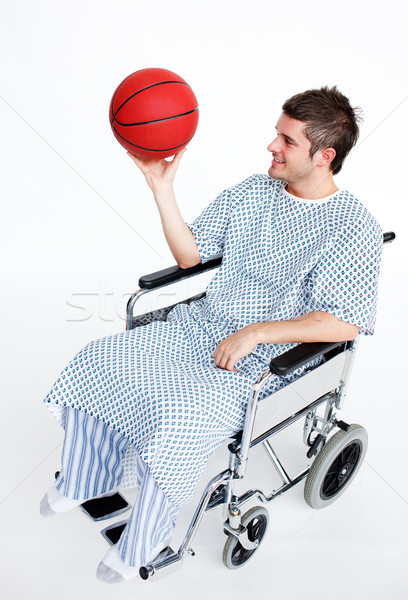 Patient in wheelchair with a basket ball Stock photo © wavebreak_media