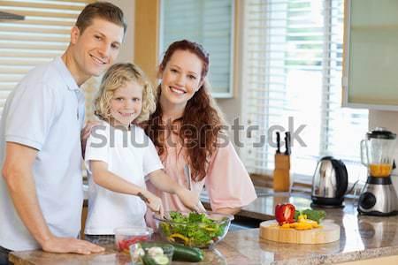 Hijo familia nina sonrisa feliz Foto stock © wavebreak_media