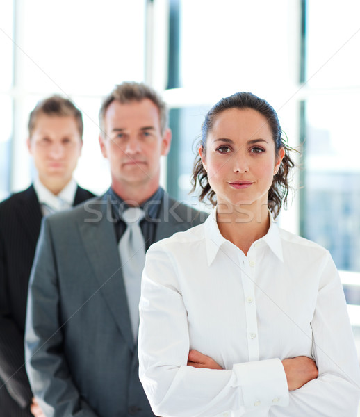 деловая женщина сложенный оружия линия молодые бизнеса Сток-фото © wavebreak_media