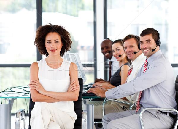 Equipo de negocios centro de llamadas de trabajo negocios oficina Foto stock © wavebreak_media
