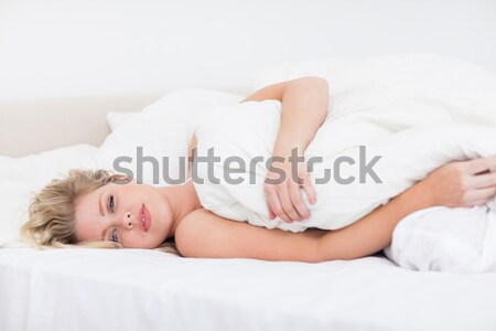 Portret vrouw dutje hand glimlach Stockfoto © wavebreak_media