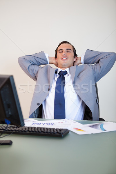 Biznesmen mały przerwie krzesło działalności Zdjęcia stock © wavebreak_media