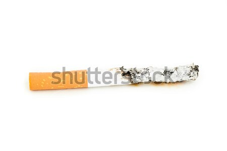 Close up of a cigarette extinguished against a white background Stock photo © wavebreak_media
