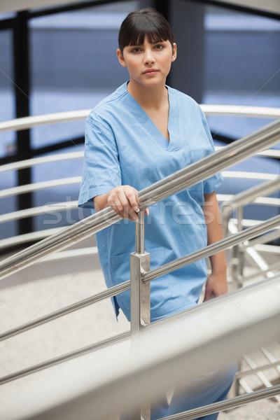 Infermiera scale ospedale corridoio femminile modo Foto d'archivio © wavebreak_media
