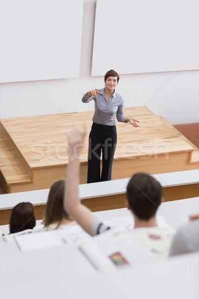Studente questione lezione donna carta Foto d'archivio © wavebreak_media
