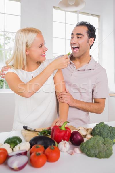 жена растительное муж дома человека счастливым Сток-фото © wavebreak_media