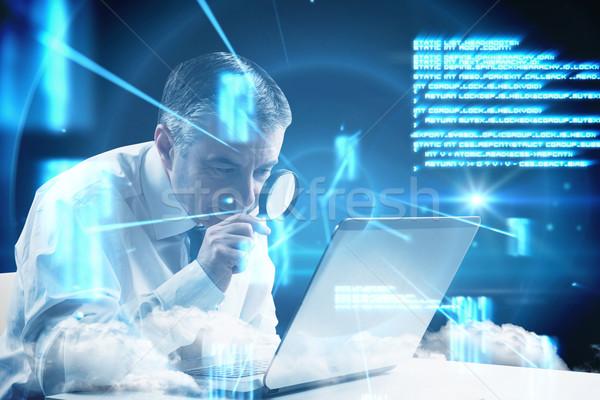 изображение зрелый бизнесмен увеличительного Сток-фото © wavebreak_media