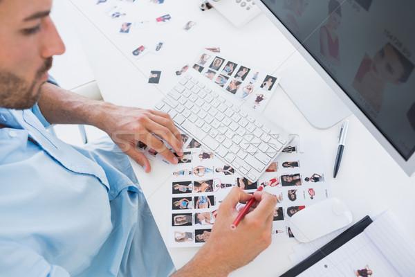 Masculino foto editor trabalhar escritório Foto stock © wavebreak_media