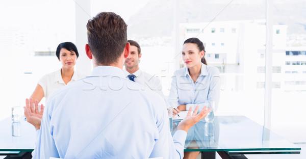 Stockfoto: Kandidaat · sollicitatiegesprek · kantoor · business · vergadering · bureau