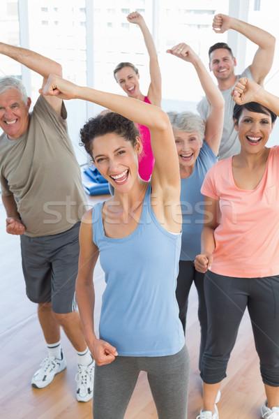Portre gülen insanlar güç uygunluk egzersiz Stok fotoğraf © wavebreak_media