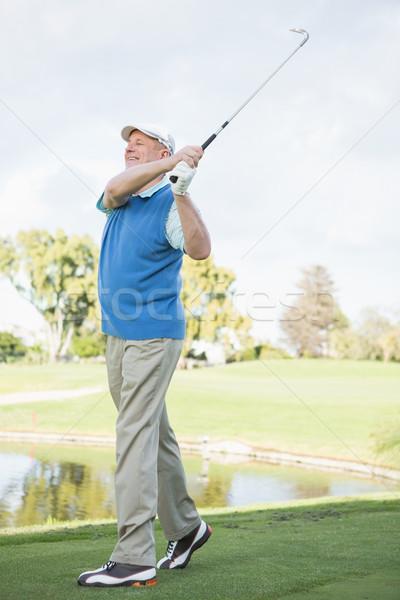Golfa shot uśmiechnięty golf Zdjęcia stock © wavebreak_media