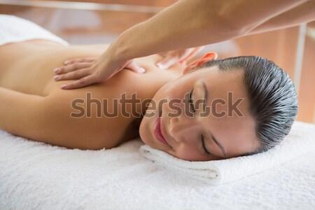 Brunette paisible massage Photo stock © wavebreak_media